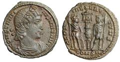"Ancient Coins - Constantine I The Great AE16 ""GLORIA EXERCITVS Roman Hoplites"" Constantinople"