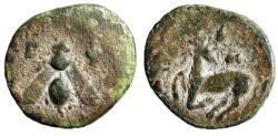 """Ancient Coins - Ionia, Ephesus (Ephesos) AE11 """"Bee & Stag Kneeling, Astragalos"""" Fine"""