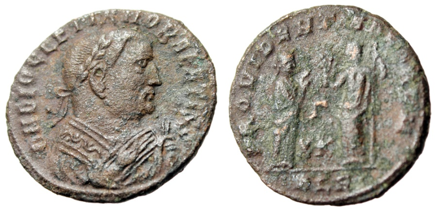 """Ancient Coins - Diocletian AE Follis """"Consular Bust, Providentia Quies"""" Alexandria RIC 80 Scarce"""