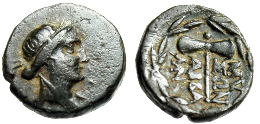 "Ancient Coins - Phrygia, Abbaitis (Abbaitis-Mysoi) ""Apollo & Labyrs Axe"" Good VF Rare"