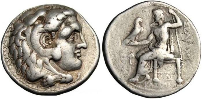 Ancient Coins - Seleukos I Nikator in the name of Alexander III, AR Tetradrachm Sardes Mint