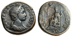 "Ancient Coins - Julia Mamaea AE Sestertius ""VENVS FELIX Venus Seated"" RIC 701 Rome 224 AD"