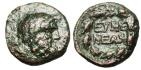"Ancient Coins - Phrygia, Eumenia AE16 ""Zeus & EYME NEWN in Wreath"" Scarce nVF"
