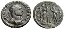 "Ancient Coins - Florian AE Antoninianus ""PROVIDEN DEOR Providentia & Sol"" Serdica RIC 110 Scarce"