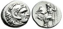 "Ancient Coins - Alexander III The Great AR Drachm ""Herakles & Zeus, Forepart Pegasus"" Near EF"