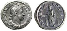 "Ancient Coins - Severus Alexander AR Denarius ""Emperor Sacrificing at Altar"" 227 AD RIC 70 gVF"