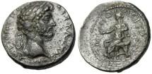"""Ancient Coins - Marcus Aurelius Caesar AE27 """"Tyche Seated"""" Macedonia Amphipolis Rare EF"""