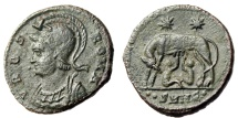 """Ancient Coins - Rome City Commemorative AE19 """"She Wolf, Romulus Remus"""" Heraclea RIC 134 Rare gVF"""