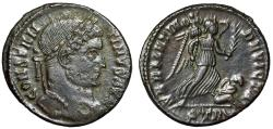 """Ancient Coins - Constantine I The Great AE19 """"SARMATIA DEVICTA Victory"""" Trier RIC 435 VF"""