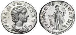 "Ancient Coins - Julia Mamaea (Mother Severus Alexander) AR Denarius ""IVNO CONSERVATRIX Juno"" gVF"