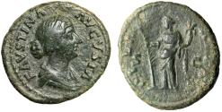 "Ancient Coins - Faustina II Junior AE As ""Hilaritas With Long Palm"" Rome Mint Good Fine"