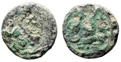 "Ancient Coins - Hadrian Lead Tesserae 17mm ""Sabina Facing Isis & Serapis LIZ"" Year 17 Very Rare"