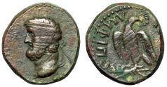 "Ancient Coins - Macedonia, Amphipolis Pseudo Autonomous AE17 Dichalkon ""Zeus, Eagle Thunderbolt"""