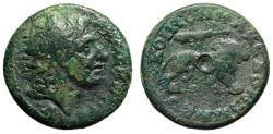"Ancient Coins - Koinon of Macedonia ""Portrait of Alexander III The Great & Lion, Club"" Fine"