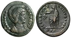 """Ancient Coins - Helena (Mother of Constantine I The Great) AE20 """"Securitas, Branch"""" Trier gVF"""