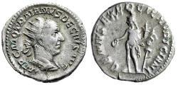 """Ancient Coins - Trajan Decius AR Antoninianus """"GENIVS EXERC ILLVRICIANI Genius"""" RIC 16c VF"""