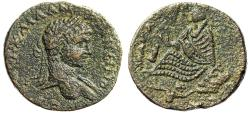 "Ancient Coins - Elagabalus AE25 ""Tyche Seated, Altar Before, River Deity Swimming Below"" Edessa"
