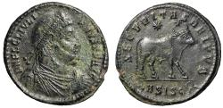 "Ancient Coins - Julian II The Apostate AE1 (30mm) ""Bull, Two Stars"" Siscia RIC 419 gVF"