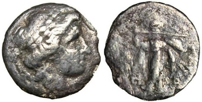 "Ancient Coins - Thessaly, Thessalian League AR Drachm ""Apollo & Athena"" aF"