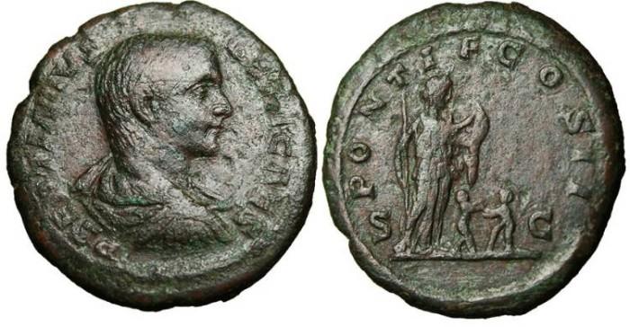 """Ancient Coins - Geta Caesar, AE As """"Pietas & Children RIC 150a Scarce"""
