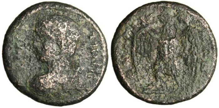 "Ancient Coins - Lydia, Thyatira Autonomous AE 22 ""Artemis & Eagle"" Scarce"