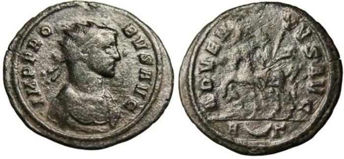 "Ancient Coins - Probus, AE Ant. ""ADVENTVS AVG Emperor on Horseback"" Rome RIC 157"