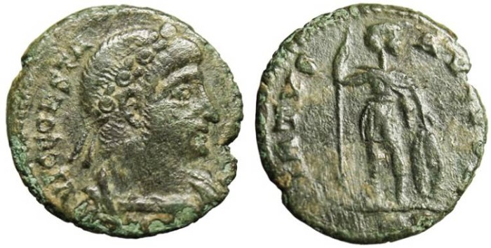 "Ancient Coins - Constantine II, AE3 'VIRTVS AVGVSTI"" Rome RIC 21 Rare nVF"
