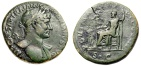 """Ancient Coins - Hadrian AE Sestertius """"Jupiter Enthroned, Victory"""" Rome 119-121 AD RIC 561b VF"""