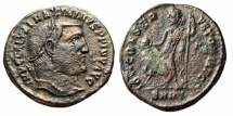 "Ancient Coins - Maximinus II AE Follis ""Jupiter"" Heraclea RIC 69A Variant Unlisted Officina Rare"