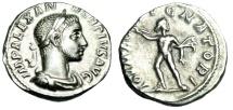 "Ancient Coins - Severus Alexander Silver Denarius ""IOVI PROPVGNATORI Jupiter"" RIC 238 VF"