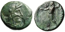 "Ancient Coins - Aeolis, Aigai AE18 ""Athena & Zeus With Eagle"" Scarce BMC 9 Authentic Greek Coin"