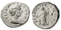 "Ancient Coins - Julia Maesa (Grandmother Elagabalus) AR Denarius ""SAECVLI FELICITAS"" RIC 271 gVF"