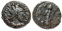 "Ancient Coins - Tetricus I Barbarous Radiate ""ILAS AVGG Female Figure, Patera Cornucopiae"" Rare"