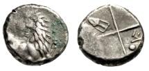 "Ancient Coins - Thrace, Chersonesos AR Hemidrachm ""Forepart Lion & Incuse, Amphora"" Budget"