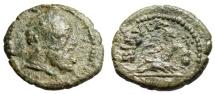 "Ancient Coins - Phrygia, Kibyra AE15 ""Herakles & River God Reclining"" Good Fine Extremely Rare"