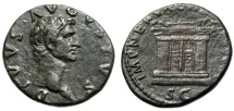 "Ancient Coins - Divus Augustus Restoration Under Nerva ""Paneled Altar"" Rome 98 AD RIC 133 VF"
