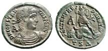 """Ancient Coins - Constantius II Centenionalis """"FEL TEMP REPARATIO"""" Thessalonica RIC 123 EF"""