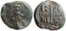 "Ancient Coins - Anonymous Class C1 Christ Follis 1034-1041 AD ""Christ Antiphonetes & Cross"" EF"