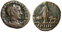 "Ancient Coins - Gordian III AE29 ""Moesia Superior, Lion & Bull"" Year 4 Viminacium Good Fine"