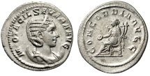 "Otacilia Severa (Wife of Philip I The Arab) AR Antoninianus ""Concordia"" gVF"