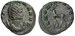"Ancient Coins - Salonina Antoninianus ""IVNONI CONS AVG Goat Walking"" Rome Good VF"