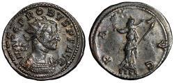 "Ancient Coins - Probus Antoninianus Error Strike ""Portrait Double Struck / Pax"" 281 AD"