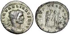 "Ancient Coins - Aurelian AR Antoninianus ""RESTITVTOR ORBIS Victory"" Cyzicus RIC 368 High Silver"