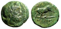 "Ancient Coins - Crete, Gortyna AE13 ""Head of Minos (Or Zeus) & Bull Butting Left"" Very Rare"