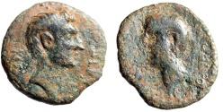 "Ancient Coins - Octavian (Augustus) AE22 ""Bust of Zenodorus"" Syria, Chalkis VF"