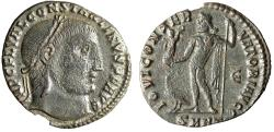 """Ancient Coins - Constantine I The Great AE Follis """"Jupiter, Eagle"""" Heraclea Fifth Officina"""