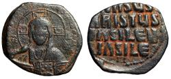 "Ancient Coins - Byzantine Empire Christ Follis ""Facing Portrait & Jesus Christ, King of Kings"""