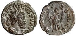 "Ancient Coins - Tetricus I AE Antoninianus ""HILARITAS AVGG Hilaritas, Long Palm"" RIC 80 EF"