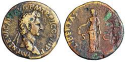 """Ancient Coins - Nerva AE Sestertius """"Libertas, Pileus"""" Rome 97 AD RIC 100"""