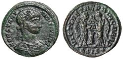 """Ancient Coins - Constantine II Caesar """"Two Victories, Shield, Glove Above"""" Siscia Very Rare"""